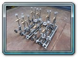 Arrangement of Stainless Steel 316L pipes with valves